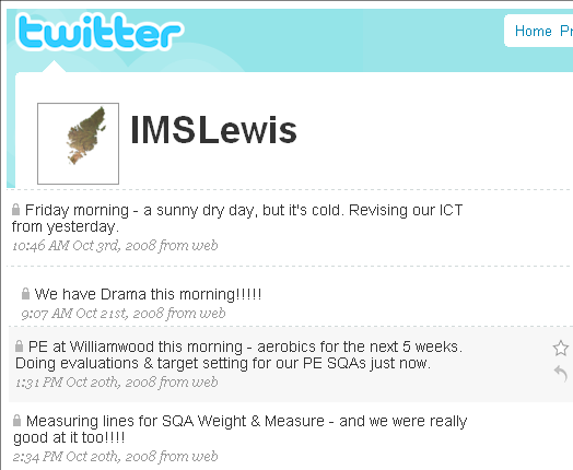 A snapshot of our Twitter page