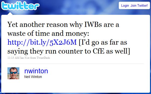Neil's IWB tweet
